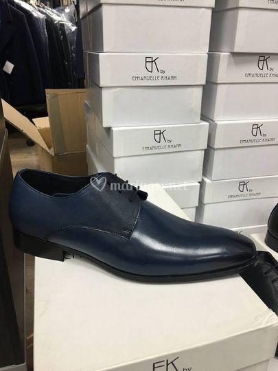 Chaussures bleues cuir