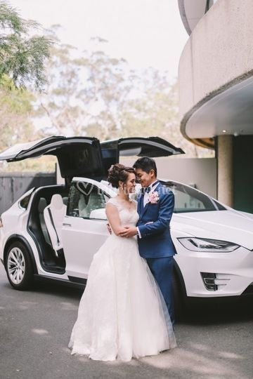 Tesla X Blanc