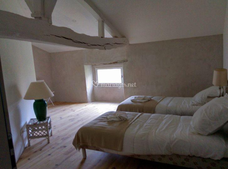 Gîte : chambre aux lits jumeaux