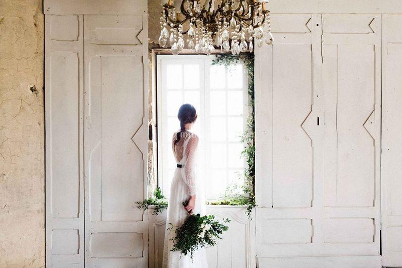 La mariée dans le grand chai