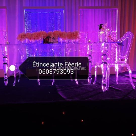Table d honneur crystal