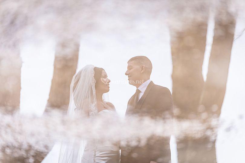 Couple en reflets