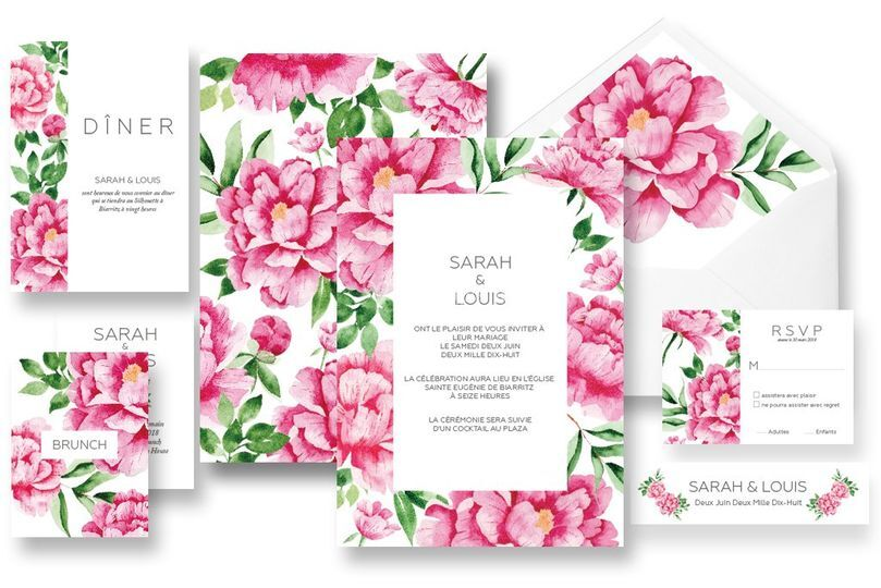 Collection pivoines romantique
