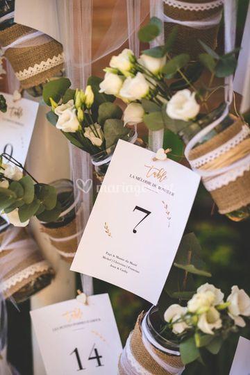 Un Plan de Table Fleuri