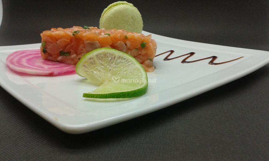 Duo de saumon et son macaron w