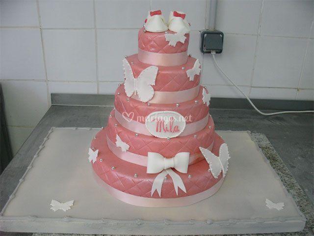 Wedding cake pâte d'amand
