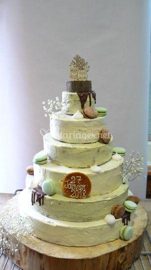 Wedding cake d'hiver