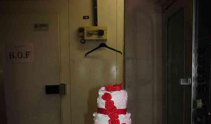 Wedding cake glace royale