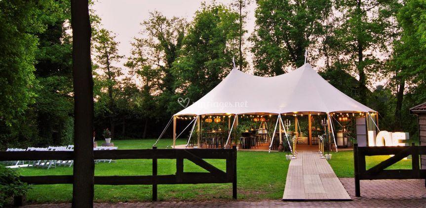 Tente Sailcloth pour mariage