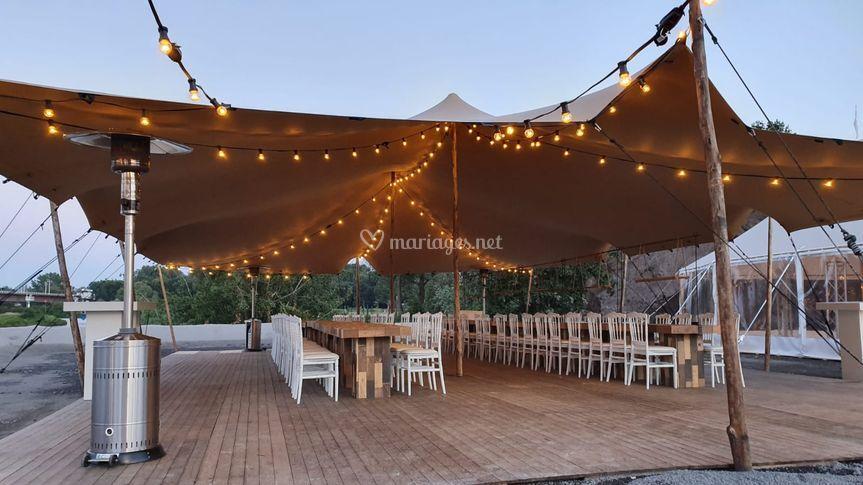 Tente Stretch pour mariage