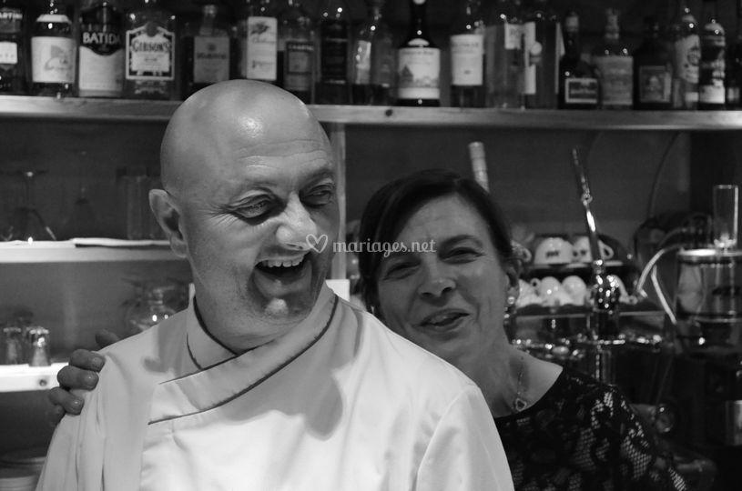 Le chef Auro et Donatella