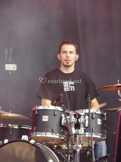 Franck à la batterie