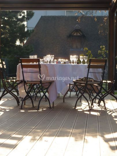 table terrasse de la terrasse du jardin photo 16. Black Bedroom Furniture Sets. Home Design Ideas