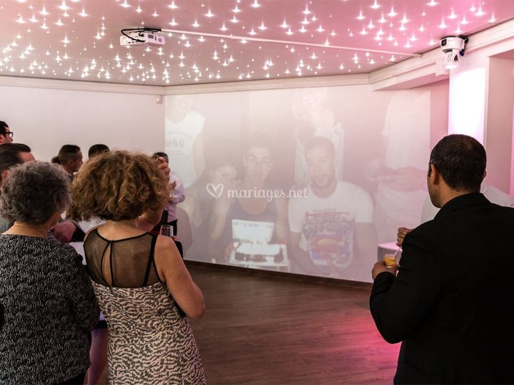 Projection vidéo salle Club