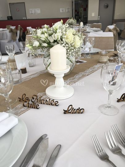 Table champêtre chic