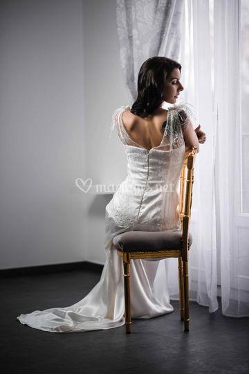 """Robe de mariée soie  """"Aurore"""" sur Aranel"""