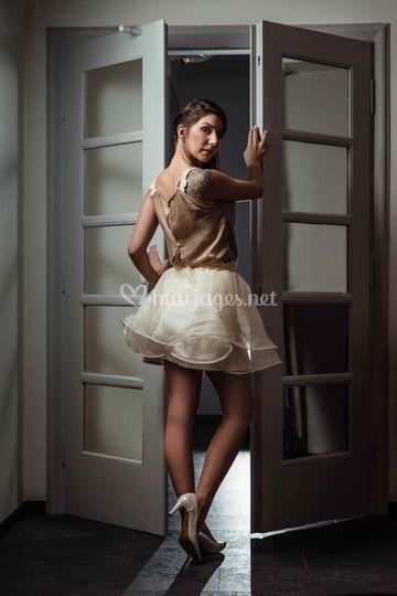 "Robe de mariée soie ""Marta"""