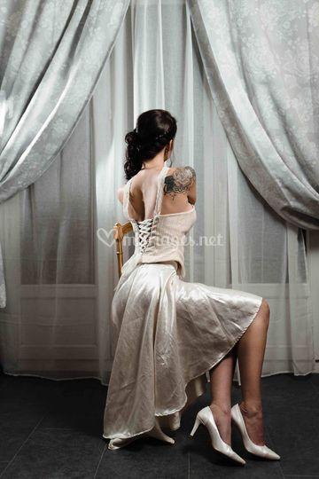 "Robe de mariée soie ""Mathilde"""