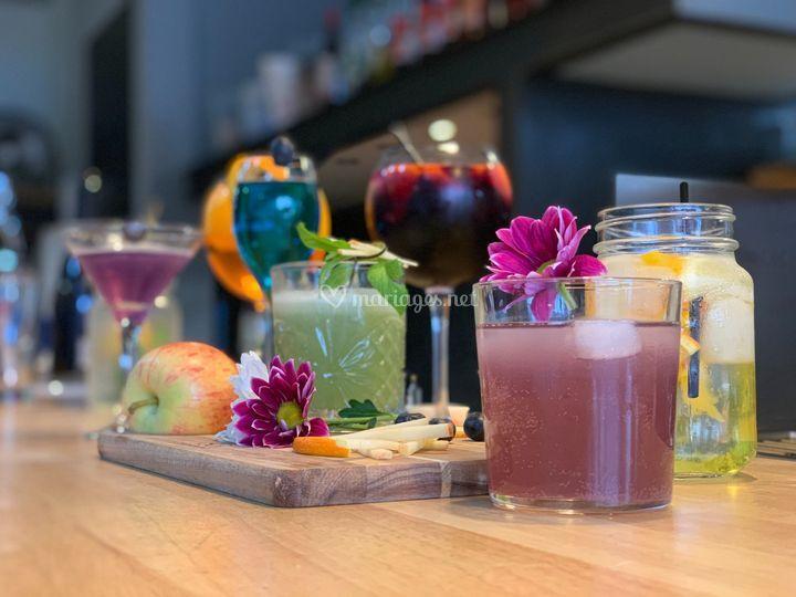 Des cocktails créatifs