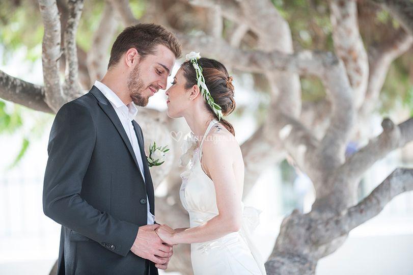 Séance couple à Santorin