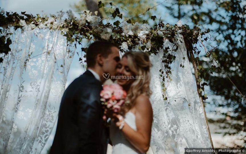 Les mariés à Chambiers