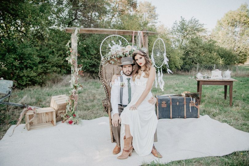 Mariage Folk  photo couple