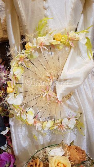 Bouquet de mariée éventail.