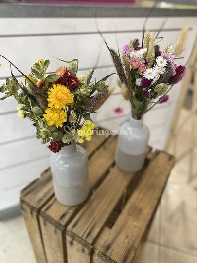 Centre de tables fleurs séchées
