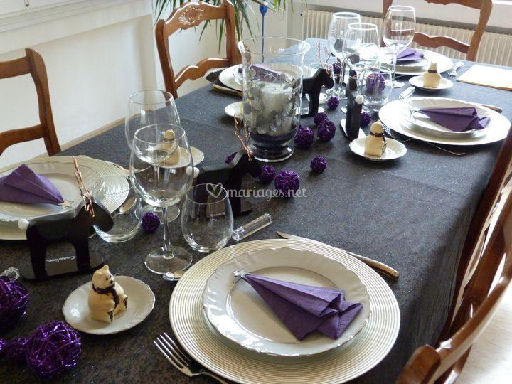 Déco noir et violet