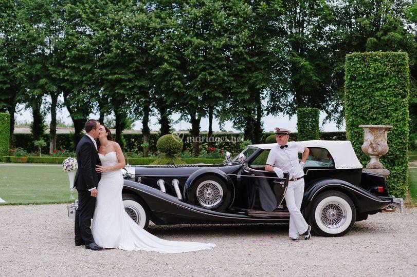 Les mariés  avec le chauffeur