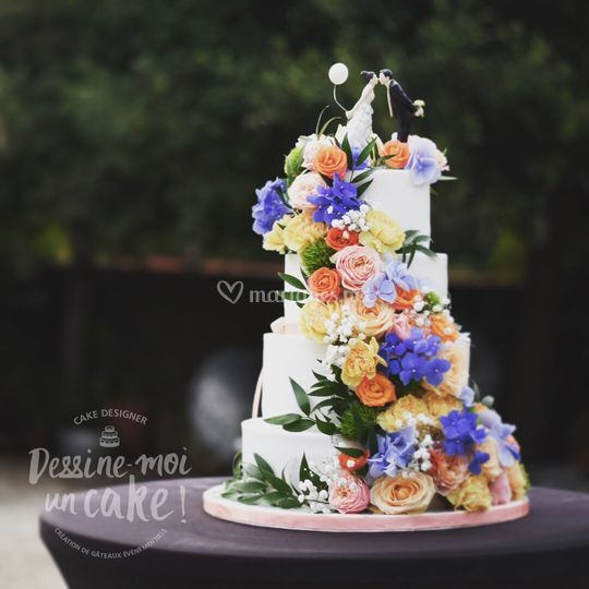 Fleurs et couple