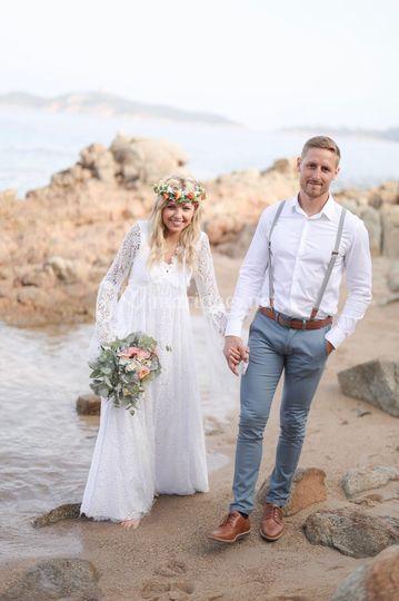 Mariage Bohème à la plage