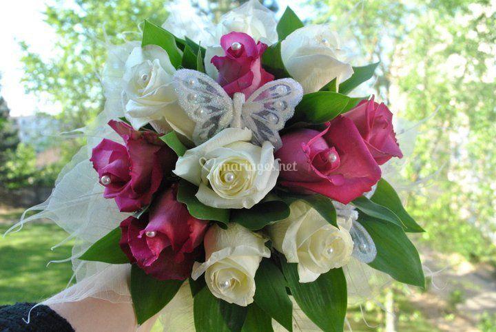 bouquet de mari e naturel de fleur th fleuriste a domicile photo 9. Black Bedroom Furniture Sets. Home Design Ideas