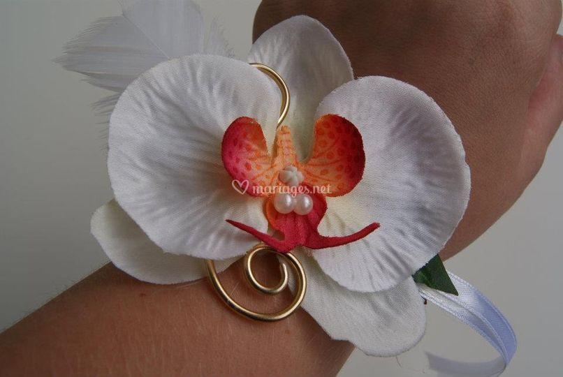 Bracelet témoin ou demoiselle d'honneur (artificiel)
