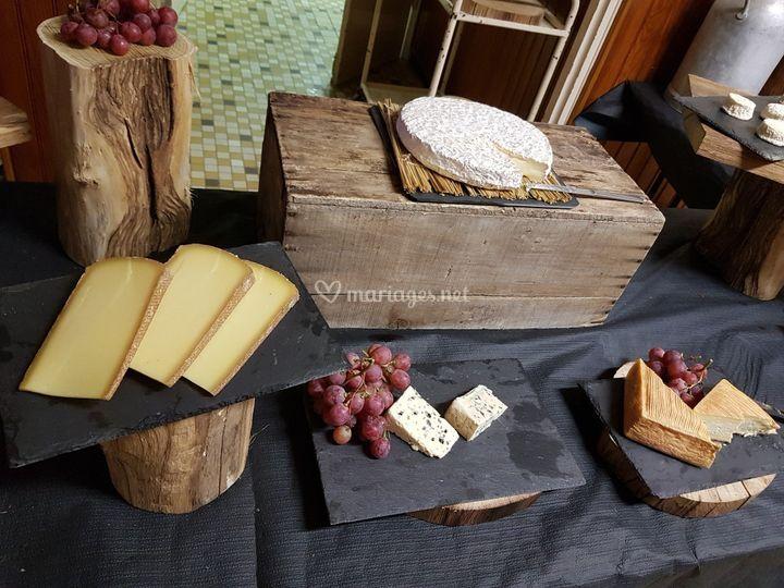 Plateau de fromage champêtre