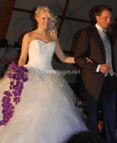Bouquet de mariée mauve