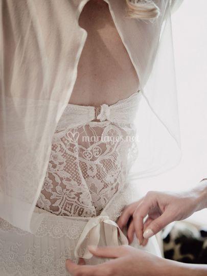 Détail de préparatif mariage