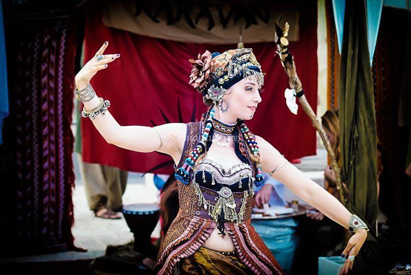 Solo danse tribal fusion