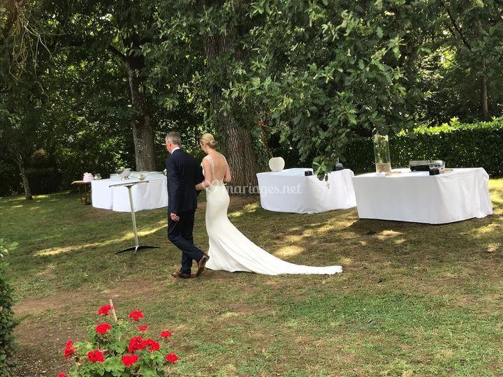L'entrée de la mariée