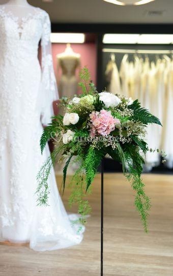 Bouquet sur socle