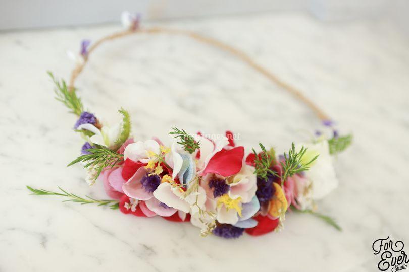 Création bijoux floraux