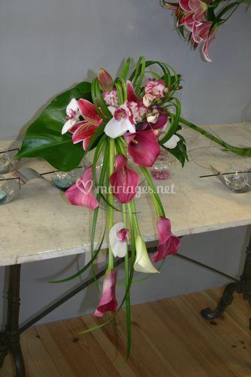 Bouquet arum et orchidée