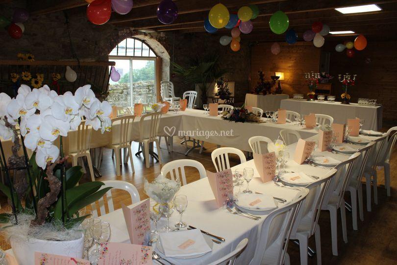 Salle décorée thème champètre