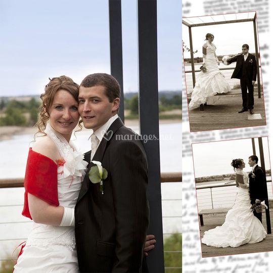 Mariés en bord de loire