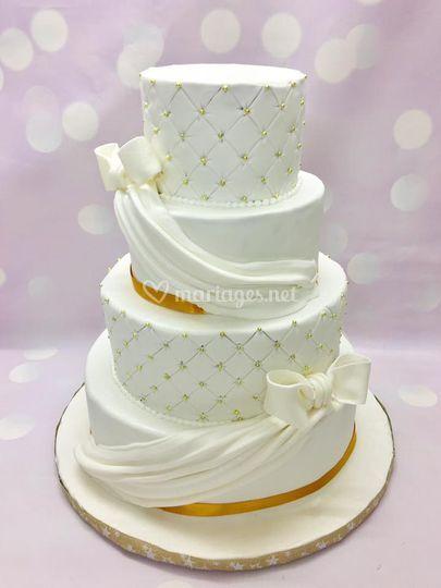 Wedding cake drapés