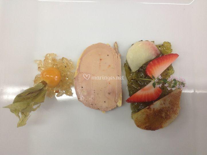 Foie gras fruits exotiques