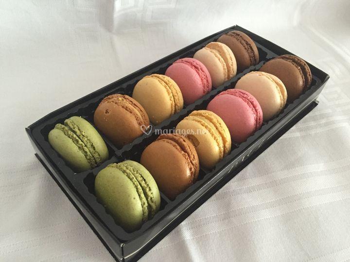 Assortiment de macarons offerts