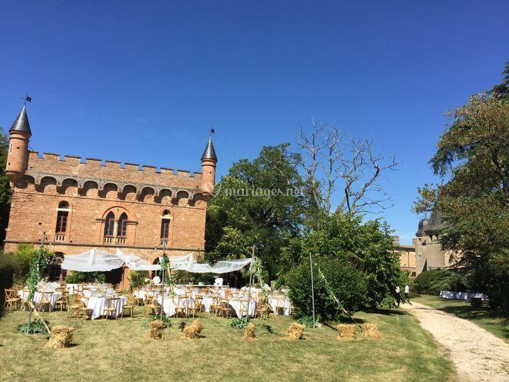 Orangerie et château