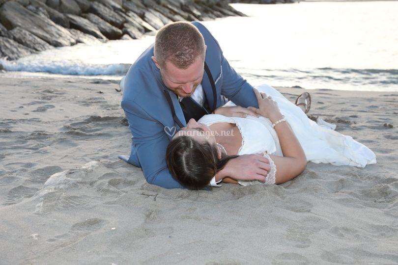 C est l amour à la plage ....