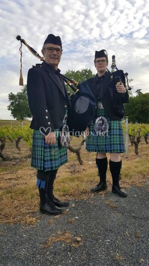 Mariage dans le vignoble